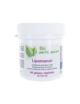 Lipomanan 60 gelules vegetales Lipases specifiques Bio Santé Senior