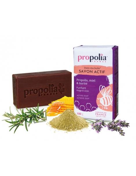 Savon purifiant Actif 100g Propolia - savon bio