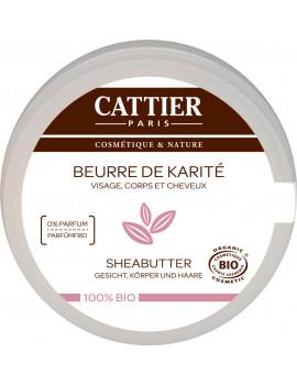 Beurre de Karite bio 100g Cattier - beurre brut de Karité