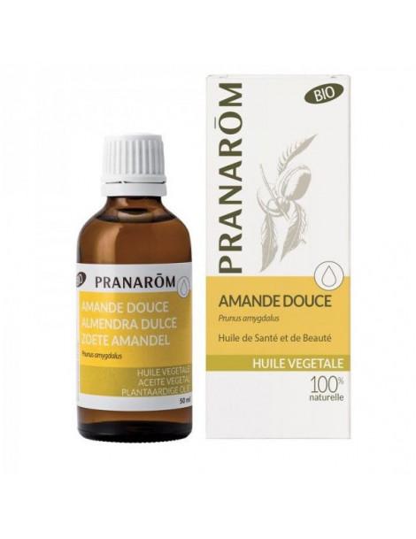 Huile vegetale vierge Amande douce 50ml Pranarôm  huile végétale bio