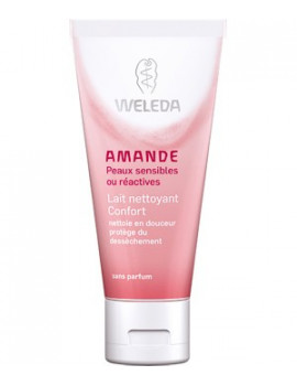 Lait nettoyant à l'amande Visage 75ml Weleda