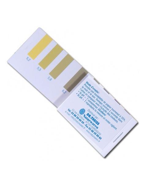 Papier indicateur pH urinaire taux d'acidite Dr Theiss