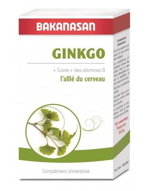 Ginkgo Cuivre 60 comprimes Bakanasan