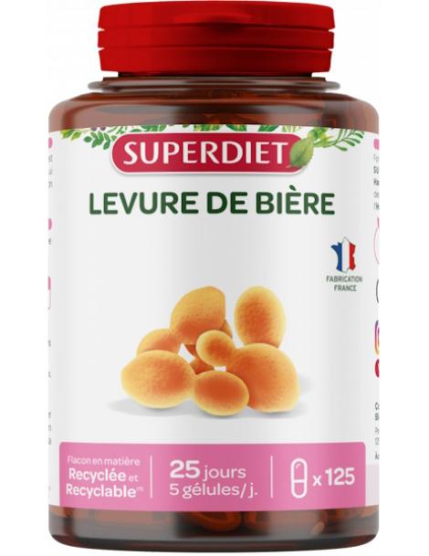 Levure de biere 125 gelules - Super Diet