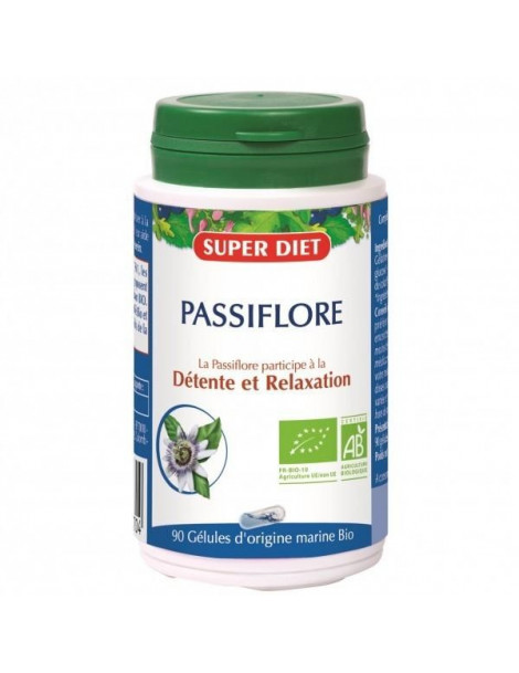 Passiflore bio 210 mg 90 gelules Super Diet