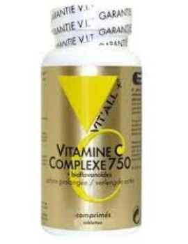 Vitamine C Complexe 750 Action prolongee 60 comprimes vit'all +