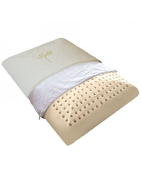 Oreiller Traditionnel Latex Taie Coton bio 60 x 40cm Biorelax