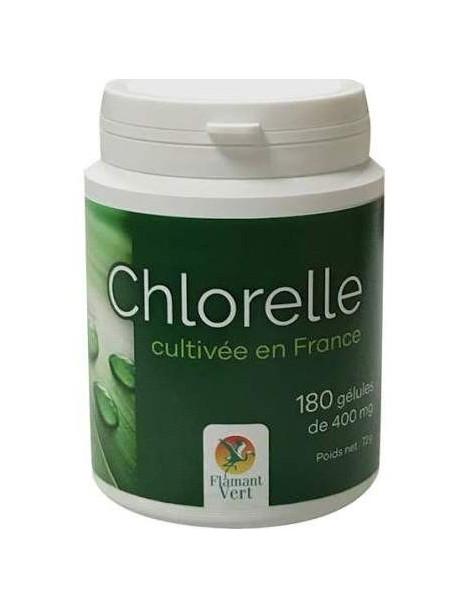 Chlorelle 180 gelules de 400 mg  Flamant vert