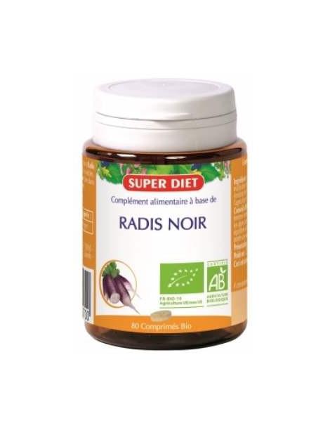 Radis noir bio 80 comprimes 360mg Super Diet