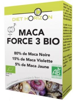 Maca Force 3 bio 60 Gelules Diet Horizon