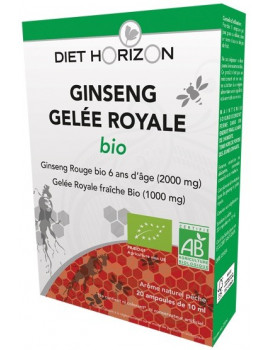 Ginseng Gelee Royale bio 20 ampoules de 10ml Diet Horizon
