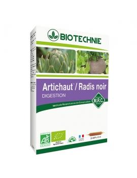 Artichaut Radis noir bio 20 ampoules 10ml Biotechnie
