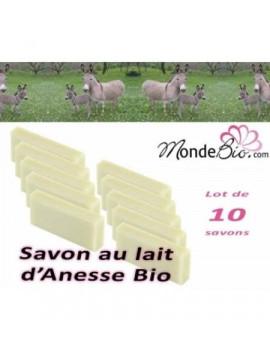 Savon au lait d'anesse bio lot de 10 savons de 40 gr Savonnerie de Bormes