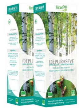 Duo Depuraseve bio Recolte 2016  Lot de 2 Flacons 250ml Herbalgem