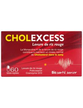 Cholexcess levure de riz rouge 60 gélules Bio Santé Senior