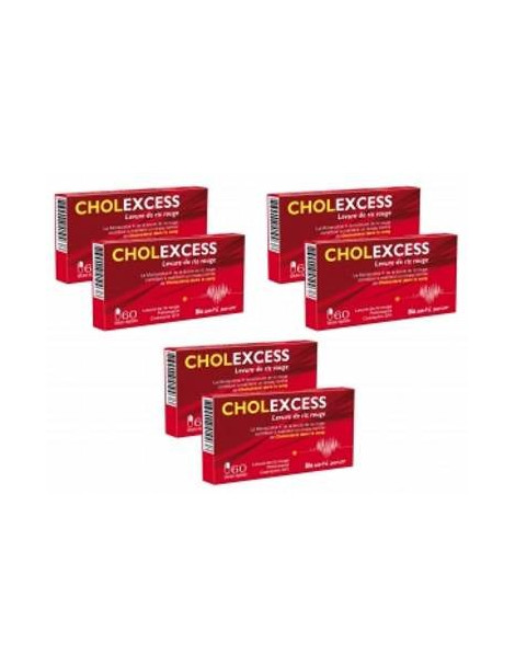 Cholexcess levure de riz rouge 3 lots de 2 boites Bio Santé Senior