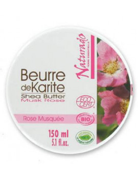 Beurre de Karite bio Rose musquée 150ml Naturado en Provence