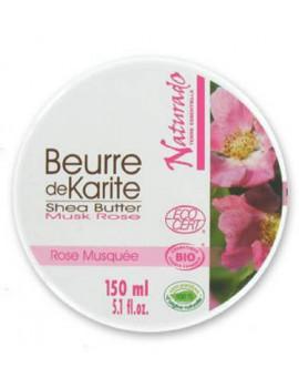 Beurre de Karite bio Rose musquée 150ml Naturado en Provence
