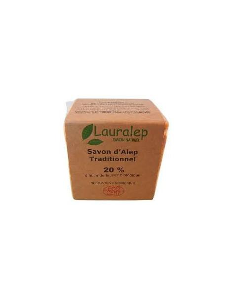 Savon d'Alep traditionnel 20% d'huile de laurier 200g Lauralep