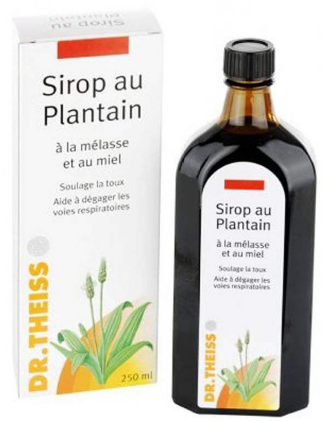 Sirop au Plantain et Melasse  250ml Dr Theiss