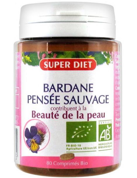 Bardane Pensée Sauvage bio - 80 comprimés Super Diet