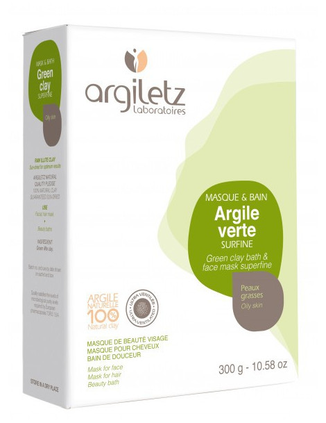 Argile verte surfine Sachet 300g Argiletz
