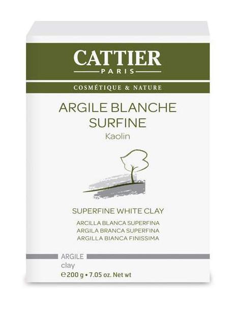 Argile blanche surfine Kaolin - 200g Cattier