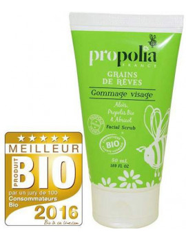 Gommage Visage Bio Aloès Abricot et Propolis 50ml Propolia