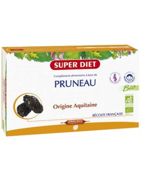 Jus de Pruneau bio 20 ampoules Super Diet