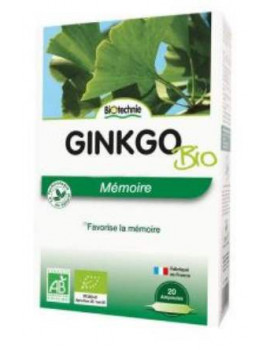 Ginkgo biloba bio - 20 ampoules de 10ml Biotechnie