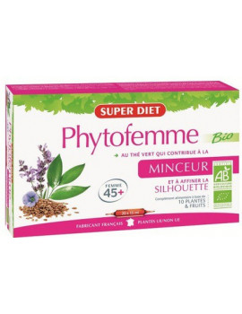 Phytofemme 45 + The vert bio  20 ampoules Super Diet