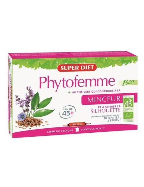 Phytofemme 45 + The vert bio  20 ampoules Super Diet