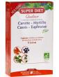 Quatuor Euphraise Carotte Myrtille Cassis Bio 20 ampoules Super Diet