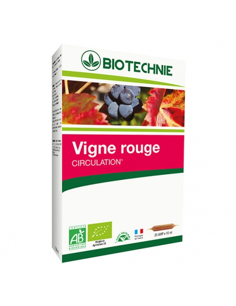 Vigne rouge bio  20 ampoules 10ml Biotechnie