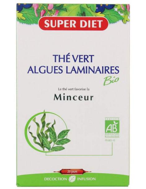 The Vert - Algues Laminaires  20 ampoules Super Diet