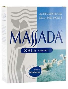 Sels de la Mer Morte 3 sachets de 200g Massada
