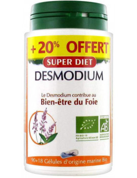 Desmodium bio 90 gelules + 18 offertes Super Diet