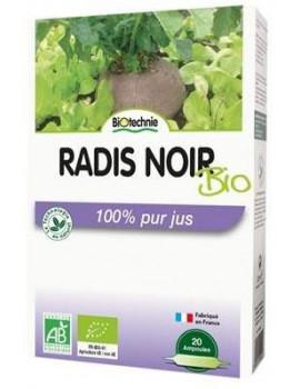Radis noir bio 20 ampoules de 10ml Biotechnie