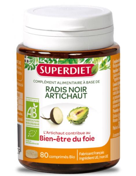 Radis Noir Artichaut bio 80 comprimes 380mg Super Diet