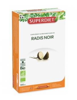 Radis noir bio  pur jus 20 ampoules Super Diet