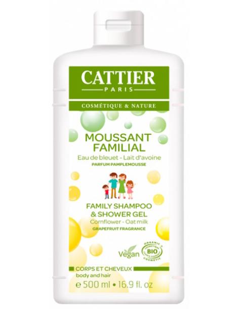 Moussant familial  au lactoserum 500ml Cattier
