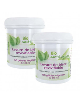 Levure de biere revivifiable 2 x 150 gelules vegetales de 340 mg Bio Santé Senior
