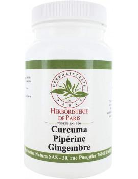 Curcuma Pipérine Gingembre 90 gélules Herboristerie de Paris