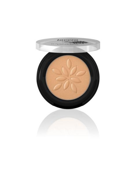 Fard à paupières minéral poudre compactée Golden Cooper  24,2g Lavera - produit de maquillage bio