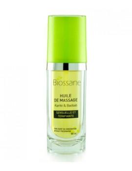 Huile de massage au Gingembre Karité et Baobab 60 ml Biossane - cosmétique naturel