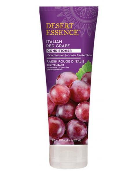 Après shampooing revitalisant au raisin rouge d'Italie 237ml Desert Essence - produit d'hygiène capillaire BIO US
