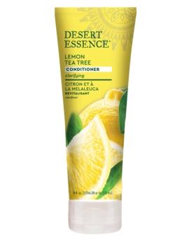 Après shampooing revitalisant au citron 237ml Desert Essence - produit d'hygiène capillaire BIO US