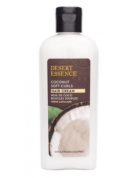 Crème capillaire boucles souples à la noix de coco 190ml Desert Essence - produit d'hygiène capillaire BIO