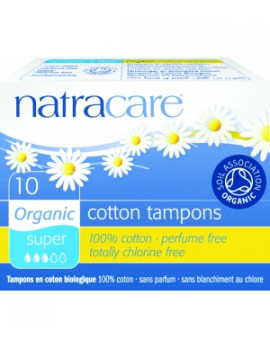 Tampons super sans applicateur Lot de 10 Natracare - lot de tampons périodiques sans applicateur
