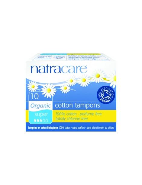 Tampons super sans applicateur Lot de 10 Natracare - lot de tampons périodiques sans applicateur